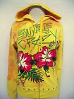 ED HARDY  CRISTIAN AUDIGIER JUNIORS PLATINUM SURF CRAZY HOODIE NWT YELLOW