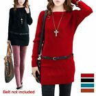 Womens Long Sleeve O Neck Bodycon Slim Party Knit Sweater Vogue Mini Dress NEW