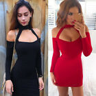 Fashion Sexy Ladies Short Mini Dress Hollow Out Women Halter Neck Dress Pencil K