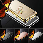 New Aluminum Metal Bumper Frame +Mirror PC Back Hard Case Cover Cover For Huawei