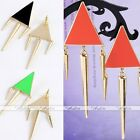 Fashion Punk Spike Rivet Taper Metal Dangle Earring Stud Triangle Geometric Gift