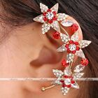 1x Golden Rhinestone Crystal Glass Star Clip-on Wrap Left Ear Cuff Earring Gift