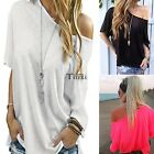 Fashion Women Sexy Short Sleeve Shirt Casual Blouse Loose Cotton Top T TXCL