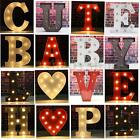 Metal LED Marquee 24 Letters Lights Vintage Circus Style Alphabet Light Up Sign
