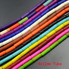"""Mix Color Jewelry Howlite Turquoise Tube Gemstone  Loose Spacer Beads 16""""4x12mm"""