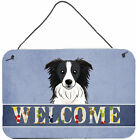 Caroline's Treasures Border Collie Welcome by Denny Knight Graphic Art Plaque