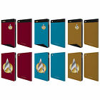 OFFICIAL STAR TREK UNIFORMS AND BADGES TNG LEATHER BOOK CASE FOR APPLE iPAD