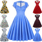 Ladies New 50s 60s Retro Vintage Swing Pinup Housewife Tea Cocktail Party Dress