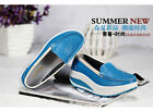 Ladies Women Leather Casual Comfy Wedge Platform Trainers UK Size 2.5-6.5 Shoes