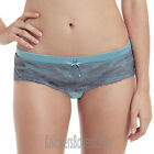 Panache Masquerade Antoinette Brief/Knickers Sky Blue/Charcoal 7152 Select Size