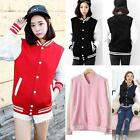 Fashion Women's Baseball Uniform Sports Jacket Cotton Sweater Tops Outwear LJ