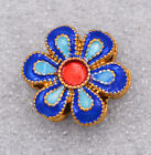 18x18x5mm cloisonne beads  Plum Tibet amulets Jewelry accessories gifts #26