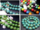 8101214MM beautiful Howlite Turquoise Round Loose Beads 16""
