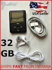 "MP3 Player 32GB 1.8"" LCD Music Media Video Radio FM 3th Generation Record"