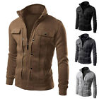 Jackets Autumn Winter Mens Coat Outerwear WARM Slim Casual 5 Colors Fashion New