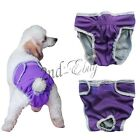 Pet Dog Diaper Female Waterproof Reusable Washable Pants Diaper Underwear XS-XL