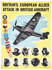 Vintage World War 2 Allied Pilots Poster A3 Print