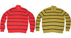 Polo Ralph Lauren Mens Striped Pony Logo Cotton Knit Half Zip Sweater M