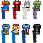 Mens Novelty Cartoon Character Marvel T-Shirt Nightwear Pj Pyjama Set Xmas Gift