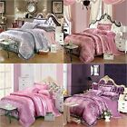 New Floral Doona/Duvet Cover Set Queen King Size Bed Quilt Cover Set Pillowcases