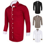 Mens Long Sleeve Shirt Fashion Down Business Work Smart Formal Plain Dress Top
