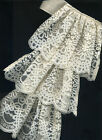 Pirate Sea Capt Jabot Lace Dickey Washable Classic 18th Century One Size Adult