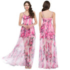 Sexy Womens Floral Dress Long Summer Beach Evening Party Prom Bridesmaid Sun NEW