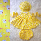 #CPY5 HANDMADE Baby Toddler Girls Cats Print Summer Sun Flower Dress Clothes Set