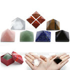 Natural Chakra Gemstones Pendant Good Luck Charming Pyramid Ornament Decorations