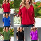 Sexy Women Summer V Neck Soft Short Sleeve Shirts Tops Loose Casual Blouse Tee