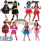 Girls Superhero Fancy Dress Costume Offcial | Kids Age 3-10 Years
