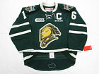 MAX DOMI LONDON KNIGHTS AUTHENTIC GREEN OHL CCM EDGE 2.0 7287 HOCKEY JERSEY