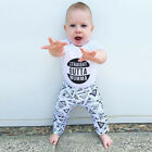 Newborn Baby Boys Short Sleeve Tops T-shirt + Long Pants 2PCS Outfits Clothes