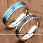 Stainless Steel Plated Roman Numerals Finger Rings Couple Lover Gothic US6-10