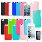 Colorful Heavy Duty Hybrid Rugged Hard Case Cover For iPhone 5C SE +Protector