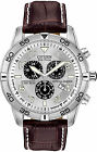 Citizen Eco-Drive Stainless Steel Leather Men's Watch BL5470-06A