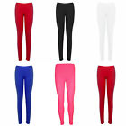 New Children Kids Girls Footless Neon Lycra Stretchy Party Disco Pants Leggings