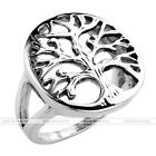 Vintage Men's Punk Rings Surgical Steel Tree of Life Biker Finger Rings Jewelry