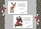 Reindeer Christmas thank you cards x 10 (87A - 89B) Would suit Girl or Boy