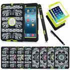 Defender Shockproof Silicone Case Zebra/Dots Pattern Rubber Cover for Apple iPad