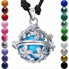 Flower Pendant Harmony Ball Aromatherapy Angel Caller Locket Necklace Jewellery