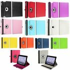 For New iPad/4 4th 3&2 Retina 360 Rotating Magnetic PU Leather Case Cover Stand