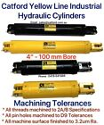 "Catford Yellow Line - Heavy Duty Hydraulic Cylinder / Ram 4"" Bore"