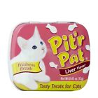 Pitr Pat Liver Flavored Cat Breath Fresheners Kitten Treat 0.43oz Tins Made USA