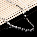 """925 Sterling Silver 2mm wide Rectangular Box Chain Necklace Jewelry A1297 18-20"""""""
