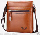 POLO Shoulder Bag Leather Men Messenger Fashion Business Crossbody Briefcase