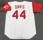 ERIC DAVIS Cincinnati Reds 1996 Majestic Throwback Home Baseball Jersey on Ebay