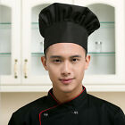 Chef Hat Adult Elastic White Black Catering Baker Kitchen Adjustable Chef Cap