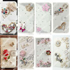 Fashion Bling Crystal Leather Wallet Card Case Phone Cover For Acer/Amazon fire
