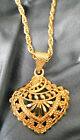 24k 22K Gold Plated Indian Traditional Chain Pendant Charming Women Jewelry Set